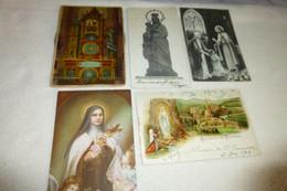 "LOT DE 5 CARTES ""RELIGION CHRISTIANISME"" ..CATHEDRALESTATUES..ETC - 5 - 99 Cartoline"