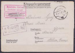 Courrier De Prisonnier (Kriegsgefangenenpost) Datée 23 Mars 1941 Du Stalag VI F Pour YZEURE (Allier) Càpt Muet 14.4.1941 - WW II