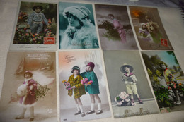 """LOT DE 8 CARTES FANTAISIE  """"BONNE ANNEE"""" ...JEUNES ENFANTS - 5 - 99 Cartes"""