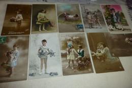 """LOT DE 10 CARTES FANTAISIE  """"JEUNES ENFANTS"""" - 5 - 99 Cartoline"""