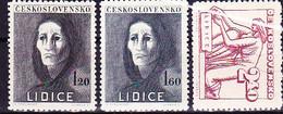 Tschechoslowakei Czechoslovakia Tchécoslovaquie - Lidice (MiNr: 518/20) 1947 - Postfrisch MNH - Ungebraucht