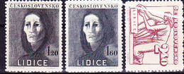 Tschechoslowakei Czechoslovakia Tchécoslovaquie - Lidice (MiNr: 518/20) 1947 - Postfrisch MNH - Nuovi