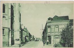 80, Somme, BRAY-sur-SOMME, Entrée De La Rue Gambtta Et Chevet De L'Eglise, Personnage, Scan Recto-Verso - Autres Communes