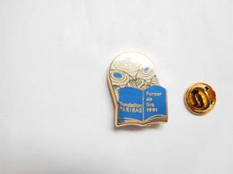 Superbe Pin's Pins En Zamac , Banque , Fondation BNP Paribas , Fureur De Lire 1991 , Signé Metargent - Banche