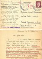 GUERRE 39-45 COR. PRISONNIER De GUERRE Au BETRIEBSLAGER STADT CHEMNITZ ZSCHOPAU /Sa. Rédigé Le 10-2-1944 CENSURE Ae/221 - WW II