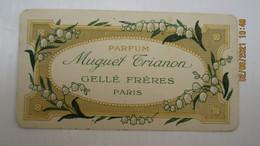 CARTE PARFUMEE PUBLICITAIRE / GELLE FRERES Paris / MUGUET TRIANON - Vintage (until 1960)