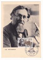 Carte Du Premier Jour 1966 Ilya Ilitch Metchnikov Russie Russia Médecine - Medicine