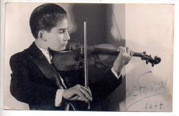 Ref 556  Photo Format CPA Christian Ferras Violoniste 1947 Images Muscicales Autographe - Artisti