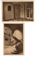 ART SUR MEURTHE (54) - Institution Ste Marie - Grand Vestibule Et Grand Escalier (2 Cartes) - Other Municipalities