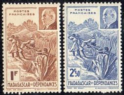 MADAGASCAR ( POSTE ) : Y&T N°  229/230  TIMBRES  NEUFS  SANS  TRACE  DE  CHARNIERE . A  SAISIR . - Ongebruikt