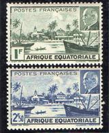 A.E.F ( POSTE ) : Y&T N°  90/91  TIMBRES  NEUFS  AVEC  TRACE  DE  CHARNIERE . A  SAISIR . - Unused Stamps