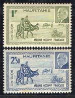 MAURITANIE ( POSTE ) : Y&T N°  123/124  TIMBRES  NEUFS  SANS  TRACE  DE  CHARNIERE . A  SAISIR . - Ongebruikt
