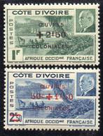 COTE-D IVOIRE ( POSTE ) : Y&T N°  175/176  TIMBRES  NEUFS  SANS  TRACE  DE  CHARNIERE . A  SAISIR . - Ongebruikt
