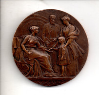 Ref M1 Medaille Ancienne Old Medal Caisse D'Epargne Annonay 1835 1935 Centenaire Bronze 40 Mm - Firma's