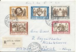 Vatican Registered Cover Sent To Switzerland 26-12-1960 - Cartas