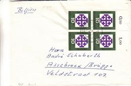 Allemagne - République Fédérale - Lettre De 1959 - Oblit Giessen - Bloc De 4 Avec Chiffres - Brieven En Documenten