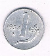 1 LIRE 1954  R   ITALIE /5362/ - 1 Lira