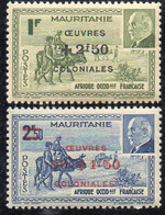 MAURITANIE ( POSTE ) : Y&T N°  131/132  TIMBRES  NEUFS  SANS  TRACE  DE  CHARNIERE . A  SAISIR . - Ongebruikt
