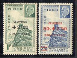 NIGER ( POSTE ) : Y&T N°  95/96  TIMBRES  NEUFS  SANS  TRACE  DE  CHARNIERE . A  SAISIR . - Ongebruikt