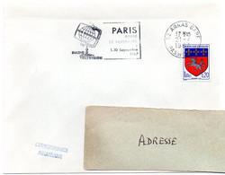 PAS De CALAIS - Dépt N° 62 = ARRAS GARE 1967 = FLAMME SECAP Illustrée  'PARIS / Salon RADIO TELEVISION ' - Mechanische Stempels (reclame)