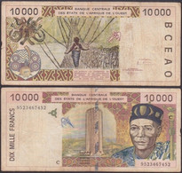 BURKINA FASSO - 10000 Francs 1995 P# 314Cc West African States - Edelweiss Coins - Burkina Faso