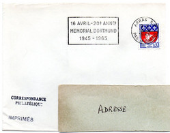 PAS De CALAIS - Dépt N° 62 = ARRAS RP 1965 = FLAMME SUPERBE = SECAP ' MEMORIAL DORTMUND' - Annullamenti Meccanici (pubblicitari)