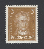 Deutsches Reich ★ Johann Wolfgang Von Goethe ★ MiNr. 386 * - Sauberer Erstfalz - Ongebruikt