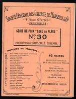 Marseille (13 Bouches Du Rhône) SOCIETE GENERALE DES TUILERIES DE MARSEILLE  Tarif N°30  1932(PPP29824) - Publicidad