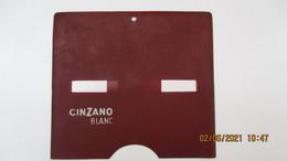 CINZANO BLANC / Pochette Plastic Publicitaire Pour Disque De CONTROLE De STATIONNEMENT / - Alcools