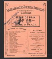 Marseille (13 Bouches Du Rhône) SOCIETE GENERALE DES TUILERIES DE MARSEILLE  Tarif N°29  1926  (PPP29825) - Publicidad