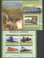 TG1250 2010 TOGO TOGOLAISE AFRICAN TRAINS 1KB+1BL MNH - Trains