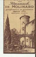 Calendrier Parfumee Almanach De Molinard      Grasse  1939 - Vintage (until 1960)