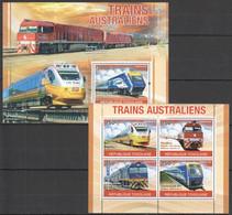 TG1260 2010 TOGO TOGOLAISE AUSTRALIAN TRAINS 1KB+1BL MNH - Automobile