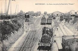 """MONTBRISON - La Gare, Vue Prise Du Pont De La """" Fumée """" - Très Bon état - Montbrison"""