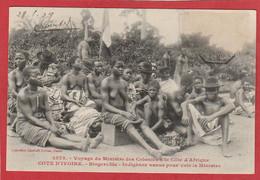 CPA: Cote D'Ivoire - Voyage Du Ministre Des Colonies - Bingerville - Indigènes Venus Voir....  (Editeur Fortier N°2573) - Ivoorkust
