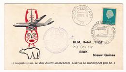 Nederland 1961 's-Gravenhage Den Haag Douglas DC-8 Eerste Poolvlucht Amsterdam Biak Via De Noordpool Nieuw Guinea KLM - Airmail