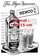 Reproduction Photographie D'une Publicité Ancienne Henco 2 Fin, Léger, Nouveau... De 1957 - Riproduzioni