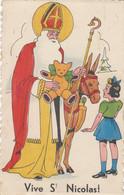 Vive St Nicolas  -  Enfant - Teddy Bear Ours - âne - Santa Ancienne Carte Postale 1941 - Saint-Nicholas Day