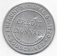 Timbre Monnaie 10 C  Crédit Lyonnais - Noodgeld