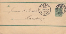 Privatpost - Poste Privée   Packet-Fahrt Berlin 1888 Vers Hamburg - Ganzsachen