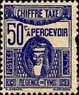 Tunisie Taxe N* Yv:60 Mi:61 Deesse Carthaginoise (dents Courtes) Voir Scan - Postage Due