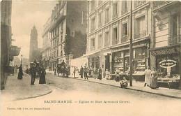 94 SAINT MANDE - Eglise Et Rue Armand Carrel - Saint Mande