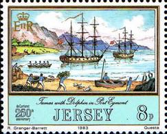 Jersey Poste N** Yv:287/292 Aventuriers De Jersey - Jersey