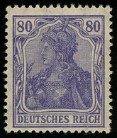 149aII Germania 80 Pf Drucktype II, ** - Unclassified
