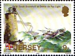 Jersey Poste N** Yv:318/323 Station Des Canots De Sauvetage De Jersey - Jersey