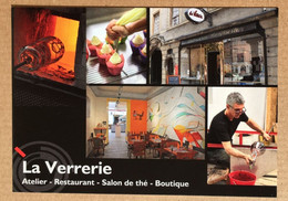 57 - METZ - Carte Publicitaire - LA VERRERIE - (Atelier, Restaurant, Boutique). Rue Gambetta. - Metz