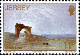 Jersey Poste N** Yv:414/418 Christmas Artistes De Jersey 8.Serie Jean Le Capelain - Jersey