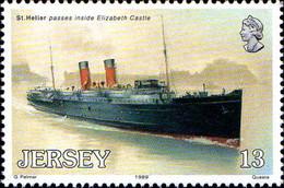 Jersey Poste N** Yv:485/489 Great Western Railway - Jersey