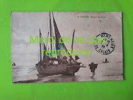 BEL 103 COXYDE BAINS  Retour De Pêche. Beau Plan D'un Bateau Déchargement Du Poisson - Non Classés