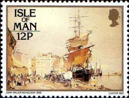 Man Poste N** Yv:326/329 Yv:7 Euro John Miller Nicholson Tableaux (Thème) - Man (Insel)